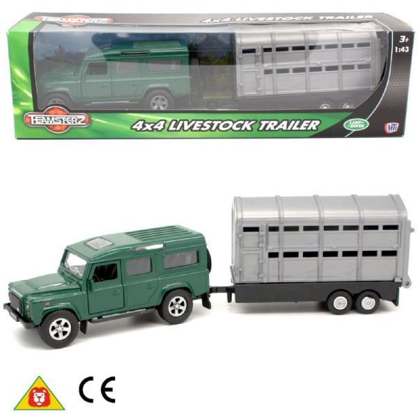 Teamsterz Teamsters LandRover 4 x 4 Livestock Trailer Toy  3+ Years